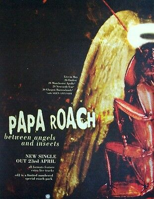 PAPA ROACH 2000 Poster Ad BETWEEN ANGELS AND INSECTS