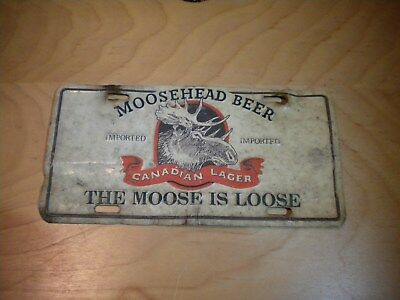 Vintage Moosehead Beer license plate Canadian Lager Imported The Moose is Loose
