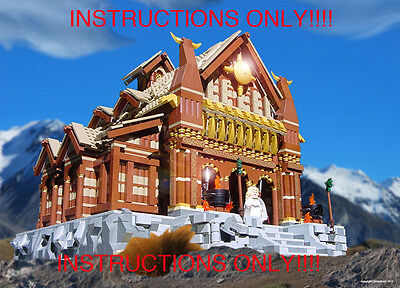 CUSTOM Lord of the Rings Edoras Kings Golden Hall (Lego Instructions Only!)