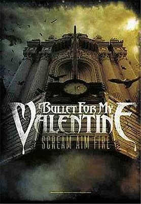 """BULLET FOR MY VALENTINE Rock flag/ Tapestry/ Fabric Poster """"Scream Aim Fire"""" NEW"""