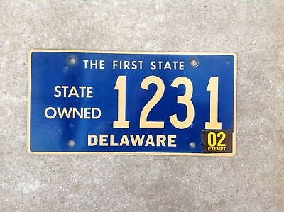 Delaware - State Owned - License Plate