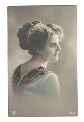 VINTAGE POST CARD unused (NPG) Postcard Young woman early1900 see description