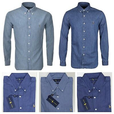 Ralph Lauren Polo Slim Fit Long Sleeve Mens Denim Shirt
