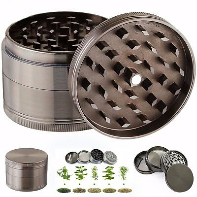Grinder 4 Piece Layer Tobacco Herb Spice Herbal Crusher Zinc Alloy Metal US