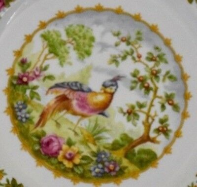 "6 3/8"" Saucer for footed Cream Soup Bowl - ""Chelsea Bird"" (Blue) by Royal Albert"