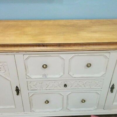 Oak sideboard painted dresser farmhouse church french style large shabby chic