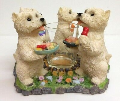 West Highland Terrier Candle Ring, Barbeque Scene, Cont. Creations, Item P751