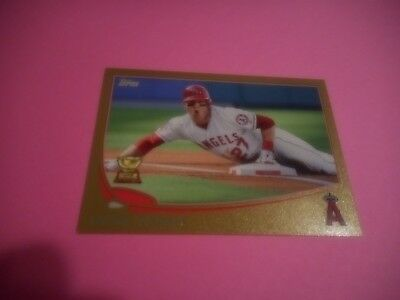 Mike Trout 2013 Topps Gold #27 Los Angeles Angels