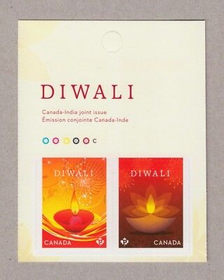 ma. DIWALI  FIRST Canada-India JOINT ISSUE, Middle BKL page of 2 MNH Canada 2017