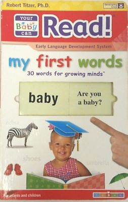 YOUR BABY CAN READ Learning Program Robert Titzer MY FIRST WORDS Slide & Learn