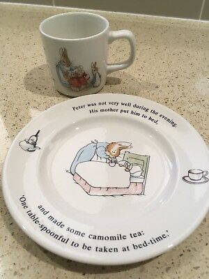 Peter Rabbit Wedgwood Porcelain Cup & Plate Set - Made in England