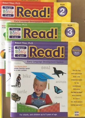 YOUR BABY CAN READ Lift-A-Flap Books Volume 2 + 3 + Review Robert TItzer NEW