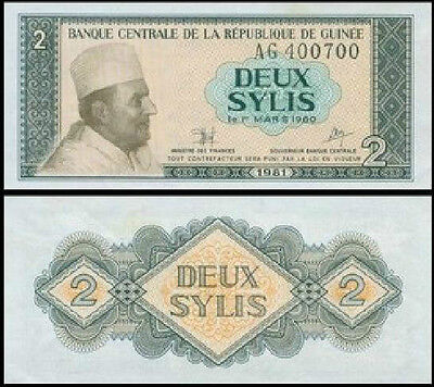 Guinea 1981 year 2 Sylis BrandNew Banknotes