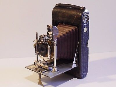 AUSTRAL No.4 ROLL FILMS CAMERA, BECK LENS, UNICUM PNEUMATIC SHUTTER, 110 YEARS O