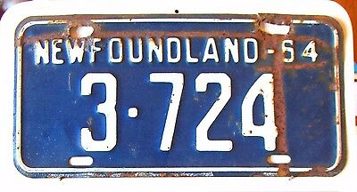 NEWFOUNDLAND and LABRADOR License Plate Tag 1964  - Low Shipping