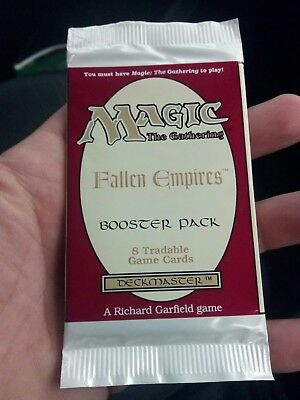 Magic The Gathering Fallen Empires unopened booster pack 1994