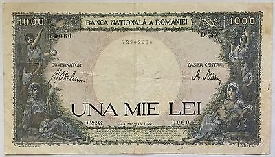 ROMANIA - 1 000 LEI (23.3.1943) Ticket from bank Quality : VERY GOOD