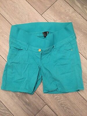 Green Maternity Shorts From H & M Size 14