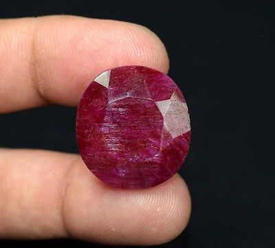 39.80 Cts. Natural African Ruby Oval Cut Loose Gemstones For Ring