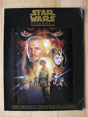 THE PHANTOM MENACE 1999 Official Souvenir Magazine Star Wars Darth Maul movie