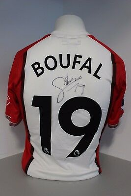 Sofiane Boufal Match Issued and Signed Home Shirt Southampton FC 17/18 Season