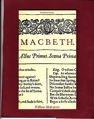 1972 Old Vic Theatre Programme - MACBETH - DIANA RIGG - ANTHONY HOPKINS