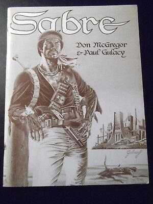 Sabre, GN, 1978, TPB, 1st, Signed by Paul Gulacy and Don McGregor