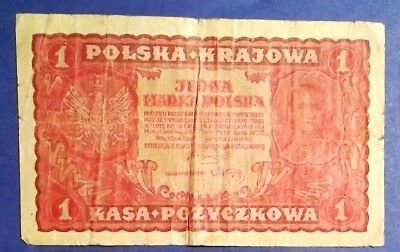 POLAND: 1 x 1 Polsa Krajowa Banknote (1919) - Fine Condition