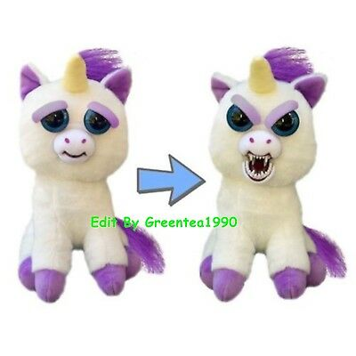Feisty Pets Glenda Glitterpoop Funny Animal Expression Unicorn Stuffed Doll Toys