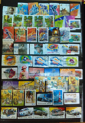 All-Modern Stockcard/collection Of Australia Stamps - All From 2000 To 2002