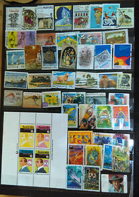 Mini-Sheet From Australia (National Stamp Week, 1976) And Collection Of Stamps