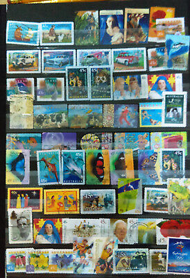 Selection On Stockcard Of Australia Stamp From The 1990's. All Different