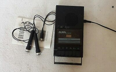 Alba DR160 Mono Cassette Recorder With Instruction and Mic