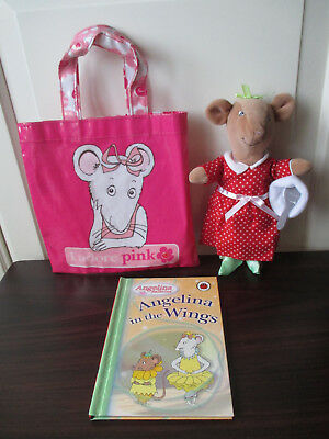 Soft Toy Alice Nimbletoes Ballerina Angelina in the Wings HB Book PVC Tote Bag