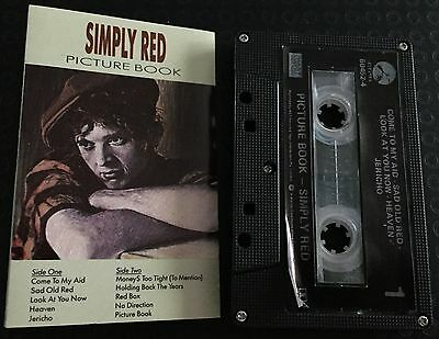 Picture Book ~ SIMPLY RED Cassette Tape