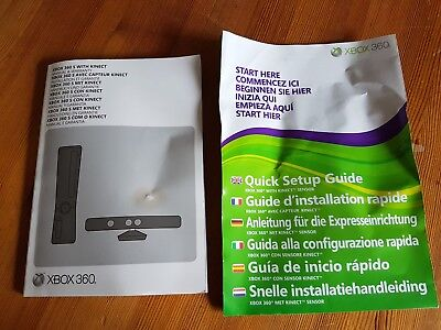 xbox 360 and kinetic instruction manual only