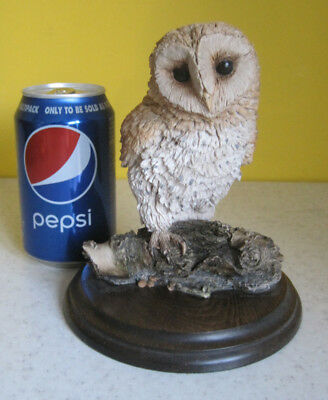 Lovely Large Owl On Branch Figurine 17cm Country Artists Bird Ornament