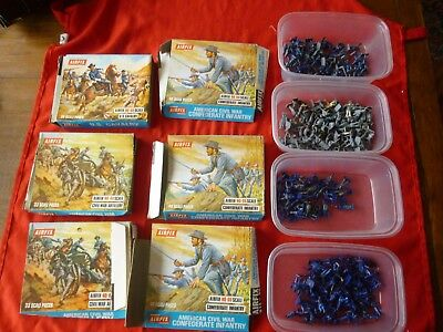 VINTAGE COLLECTABLE AIRFIX MODEL TOY SOLDIERS BOXED JOB LOT AMERICAN 214 figures