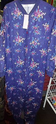 Joblot 11 Ladies Thermal Floral All In One Size 10-12 , 14-16, 18-20 New