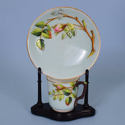 Royal Worcester Porcelain 'Blind Earl' Coffee Cup & Saucer, c1881  (A)