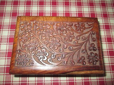 Vintage Floral Patterned Wooden Box