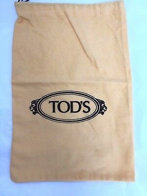 TOD'S small yellow brushed cotton bag or shoe dust bag - 34 x 23 cms