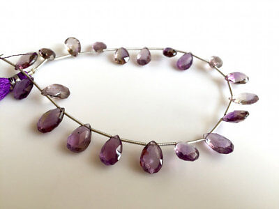 AAA Ametrine Faceted Pear Beads Briolletes 9x13mm Each 20 Pieces Approx 8 Inches