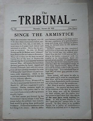 Conscientious Objector Newspaper The Tribunal clandestine Rare 1919