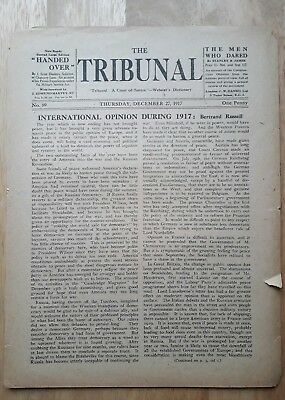 Conscientious Objector Newspaper THE TRIBUNAL 1917 RARE