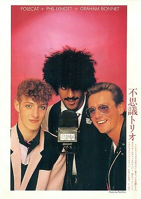 Thin Lizzy / Phil Lynott - Clippings From Japanese Magazine Music Life 1982-1983