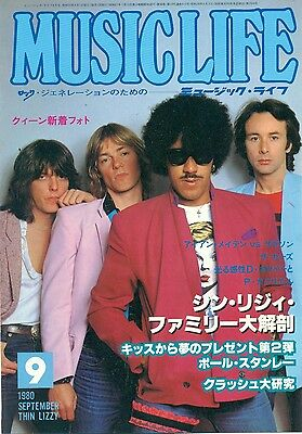 Thin Lizzy / Phil Lynott - Clippings From Japanese Magazine Music Life 1980