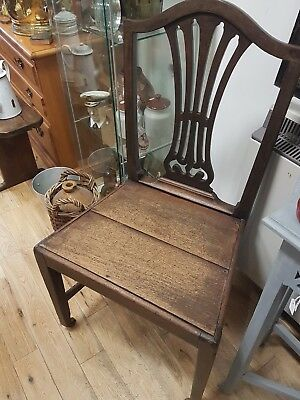 Genuine Antique Victorian Hall Chair Mahogany Solid & Sturdy