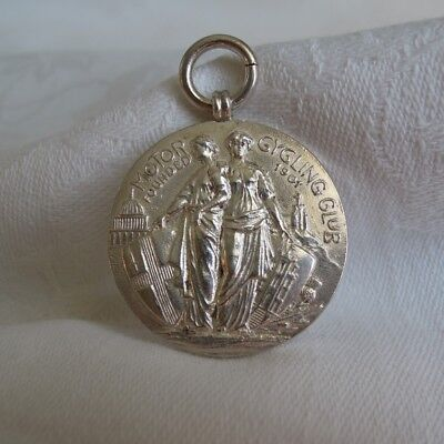 Rare 1913 London Motor Cycling Club Silver Medal Fob London To Lands End