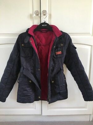 Barbour International Quilted Fleeced jacket for Girls size L (10-11)